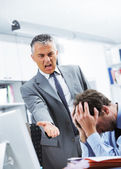 Yelling at an employee — Stock Photo