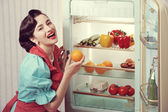 Sixties refrigerator advertising — Stock Photo