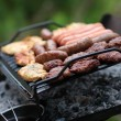 Stock Photo: Grilling at summer weekend