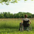 Disabled young man on the park — Stock Photo #30060645