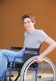 Disabled young man — Stock Photo
