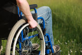Man in a wheelchair — Stock Photo