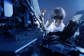 Mad IT worker — Foto Stock