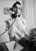 Office Worker talking on the phone — Foto de Stock