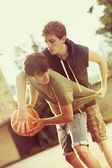 Street basketball — 图库照片