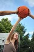Friendship & sport — Stock Photo