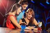 Enjoying with a smartphone — Stock Photo
