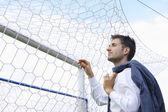 Soccer coach — Stock Photo
