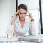 Workplace headache — Stock Photo
