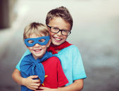 Super brothers — Stock Photo