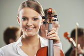 Classical music, woman portrait — Stock Photo