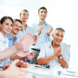 Business people clapping in meeting — Stock Photo #35028691