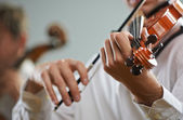 Violinist and cellist — Stock Photo