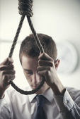 Business Suicide — Stock Photo
