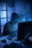 Hacker stelen van gegevens van de computer — Stockfoto