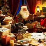 Santa Claus relaxing at home — Stock Photo