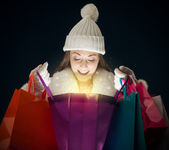 Shopping di natale — Foto Stock