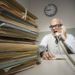 Vintage businessman on the phone — Stock Photo