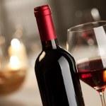 Wineglass and bottle still life — Photo
