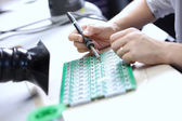 Electronic component assembly — Stock Photo