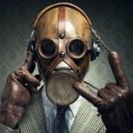 Gas mask rock — Stock Photo