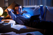 Working late at night — Stock Photo