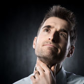 Sore throat — Stock Photo