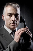 Man on the phone — Stockfoto