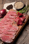 Elegant food preparation: meat — Foto Stock