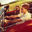 Vintage Car Couple — Stock Photo #45688181