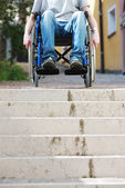 Wheelchair Inaccessable Stairs — Stock Photo