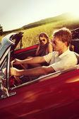 Par de coches de época — Foto de Stock