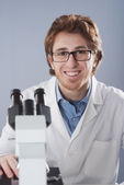 Young researcher in the laboratory — Foto de Stock