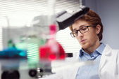 Researcher at work — Stock Photo