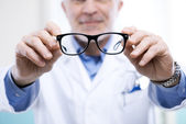 Oculist at work — Stock Photo