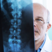 Radiologist at work — Stock Photo