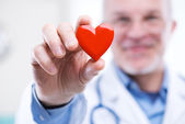Doctor with heart — Stock Photo