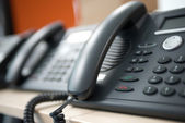 Telephone customer service — Stock Photo