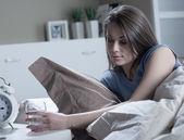 Woman suffering from insomnia — Foto de Stock