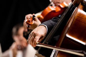 String orchestra performance — Stock Photo