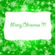 Green Christmas Background. — Stock Photo