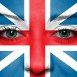 Flag painted on face - England — Foto de Stock