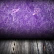 Dark room with purple wall with pattern on it useful as texture or background — Stock Photo #28589333