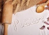 Pizza word — Stock Photo