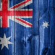 Australian flag overlaid with grunge texture — Stock Photo