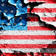 Grunge USA flag theme background and texture — Stock Photo
