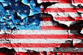 Grunge USA flag theme background and texture — ストック写真