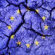Cracked soil as EuropeUnion flag — Stock Photo #29666341