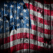 The USA flag painted on wooden pad — Stock Photo