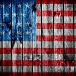 Grunge flag of USA — Stock Photo